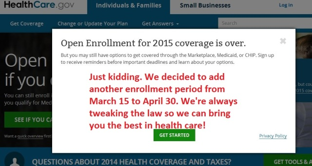 ObamaCare Feb 15 2015 enrollment page