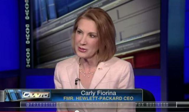 Carly Fiorina screen grab Fox News
