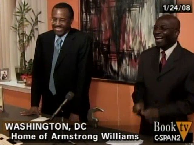 Ben Carson and Armstrong Williams at Carson Book Party 2008